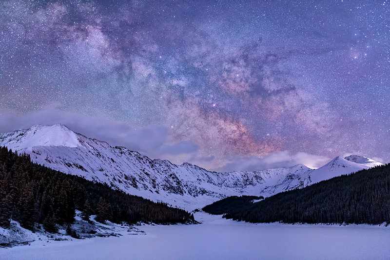 "12"" x 18"" METAL PRINT of Clinton Reservoir Milky Way, Colorado"