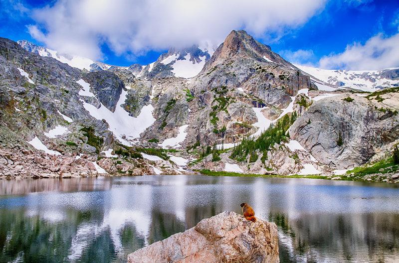 "12"" x 18"" METAL PRINT of Bluebird Lake Rocky Mountain National Park, Colorado"