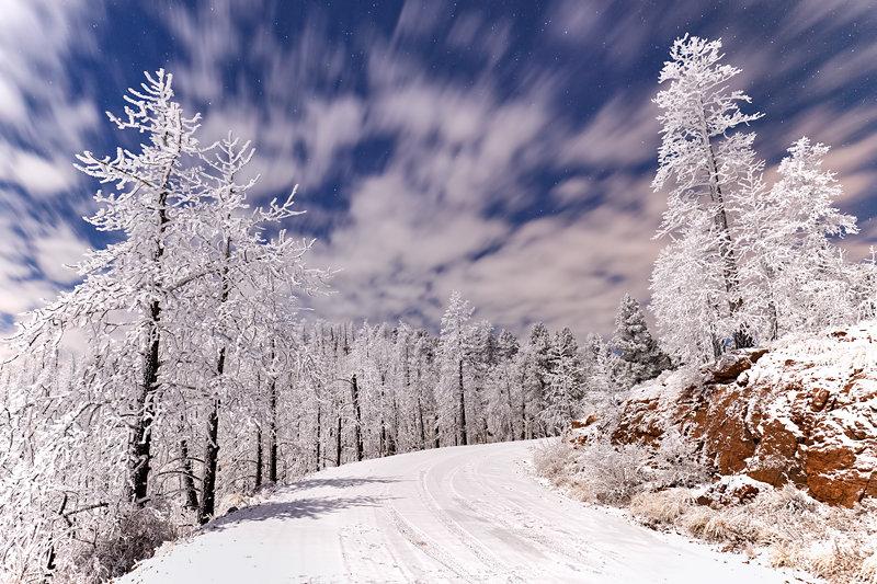 "12"" x 18"" METAL PRINT of Frozen Nights, Colorado"