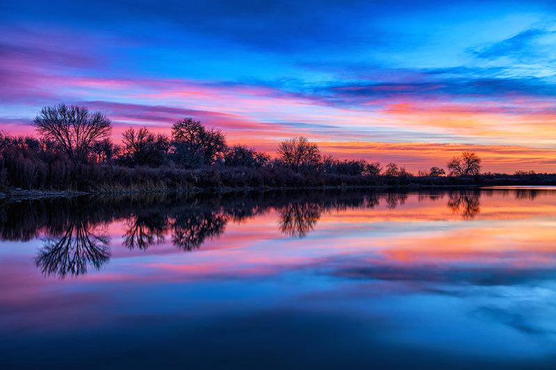 """12"""" x 18"""" METAL PRINT of Valco Ponds Pueblo, Colorado"""