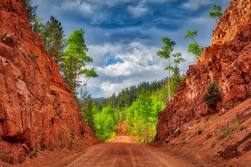 "12"" x 18"" METAL PRINT of Gold Camp Road, Colorado"