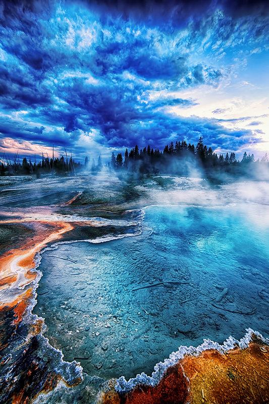 "12"" x 18"" METAL PRINT of Black Pool Yellowstone National Park, Wyoming"