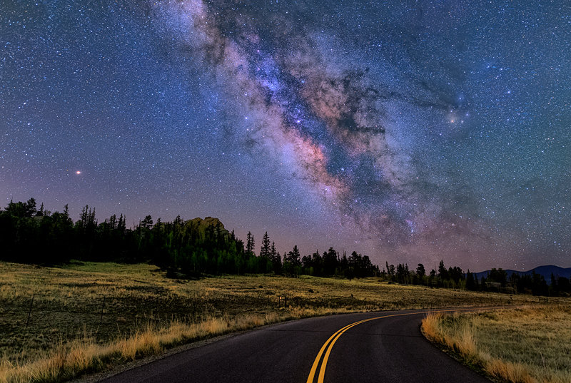 "12"" x 18"" METAL PRINT of Eleven Mile Milky Way, Colorado"