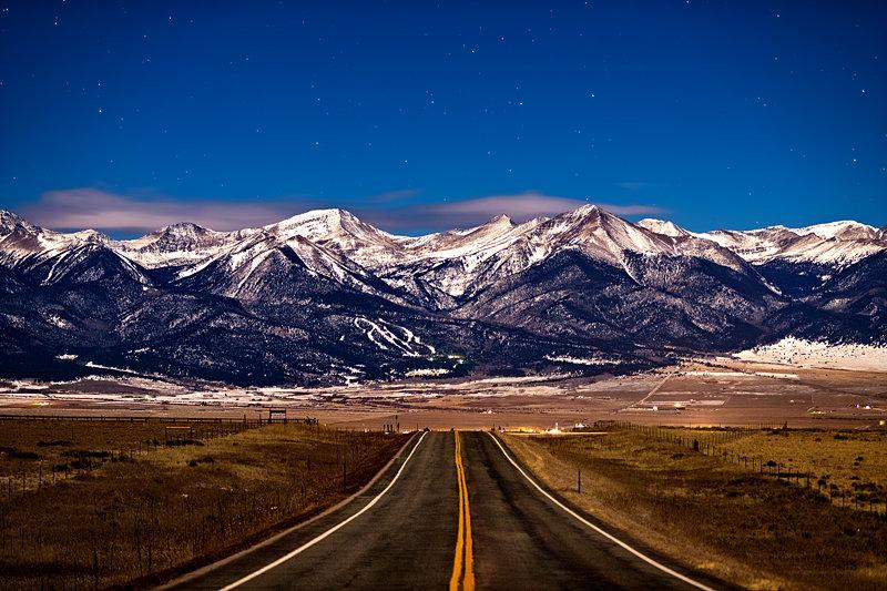 """12"""" x 18"""" METAL PRINT of Sangre de Cristo Mountains Westcliffe, Colorado"""