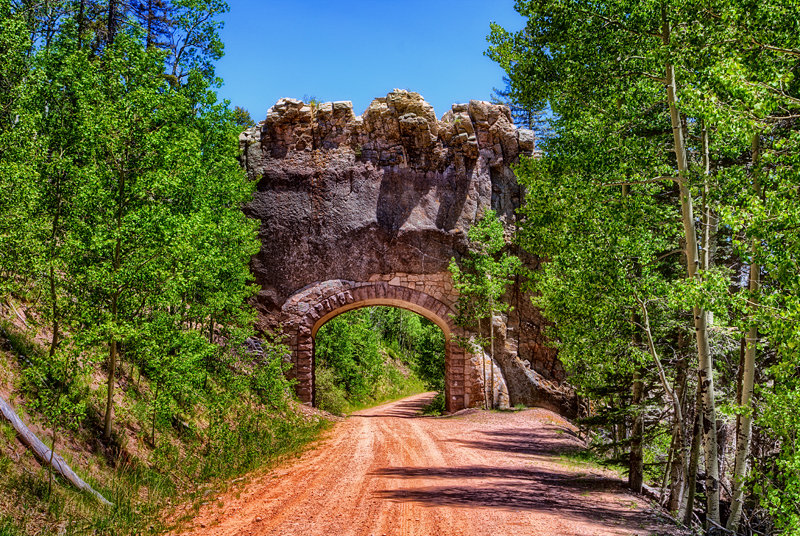 "12"" x 18"" METAL PRINT of Apishapa Arch, Colorado"