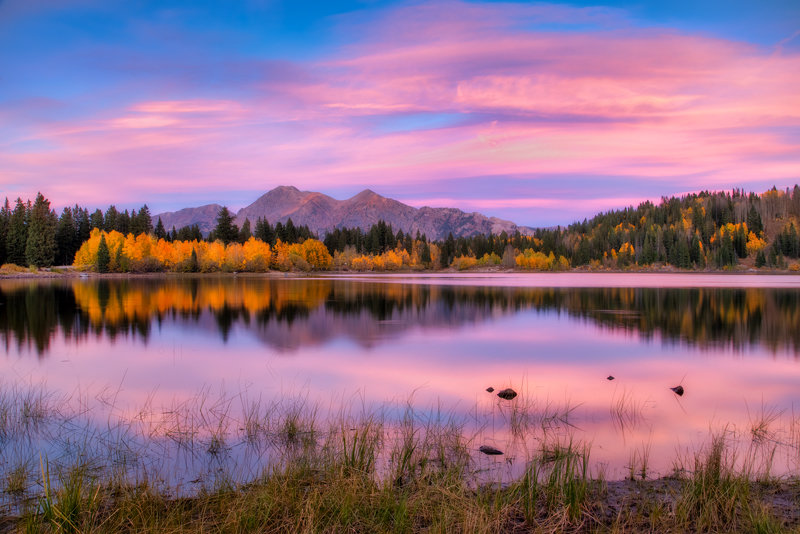 "12"" x 18"" METAL PRINT of Lost Lake Slough Sunset, Colorado"
