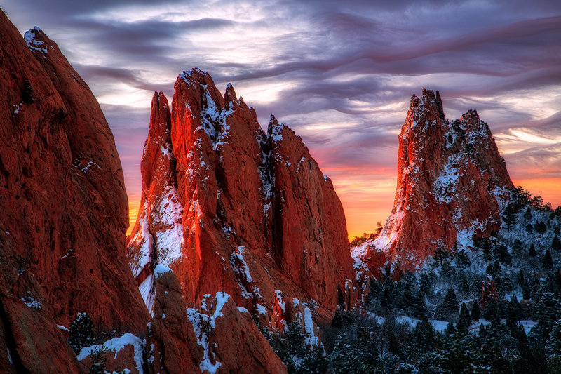 "24"" x 36"" Canvas Wrap of Garden of the Gods, Colorado"