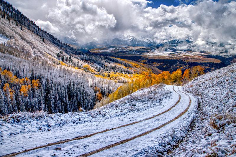 """24"""" x 36"""" Canvas Wrap of Last Dollar Road, Colorado"""