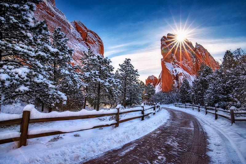 """24"""" x 36"""" Canvas Wrap of Garden of the Gods, Colorado"""
