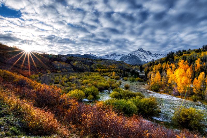 """24"""" x 36"""" Canvas Wrap of Mount Sneffels, Colorado"""