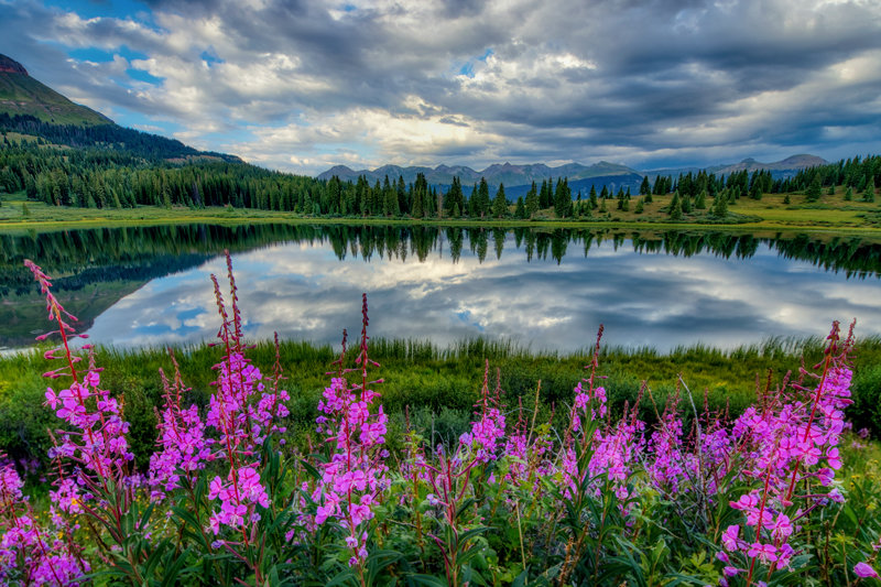 "24"" x 36"" Canvas Wrap of Little Molas Lake, Colorado"