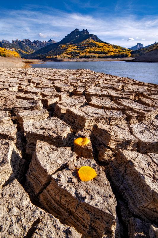 "20"" x 30"" Canvas Wrap of Silver Jack Reservoir, Colorado"
