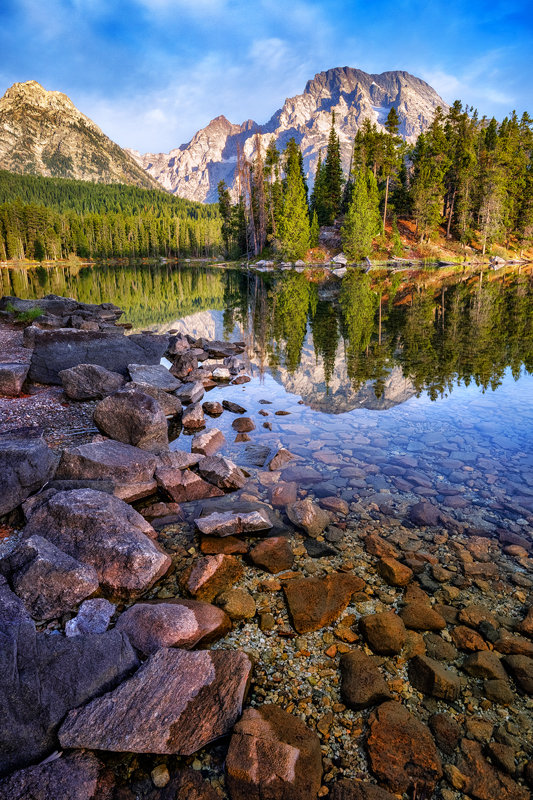 "20"" x 30"" Canvas Wrap of Leigh Lake Grand Teton National Park, Wyoming"
