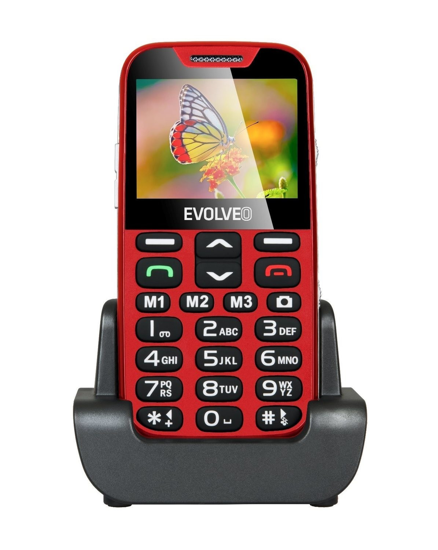 EVOLVEO EASYPHONE XD GR - ΚΟΚΚΙΝΟ ΧΡΩΜΑ.Ένα κινητό τηλέφωνο για ηλικιωμένους με βάση φόρτισης -ΝΕΟ ΜΟΝΤΕΛΟ