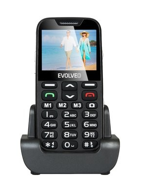 EVOLVEO EASYPHONE XD GR ένα κινητό τηλέφωνο για ηλικιωμένους με βάση φόρτισης