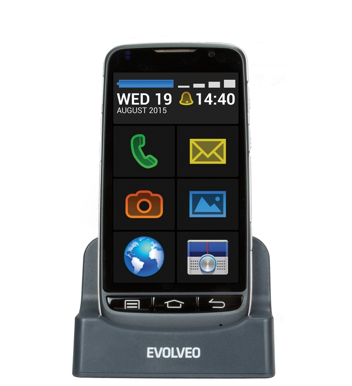 EVOLVEO EASYPHONE D2 Android smartphone με εύκολη λειτουργία και βάση φόρτισης - ΝΕΟ ΜΟΝΤΕΛΟ