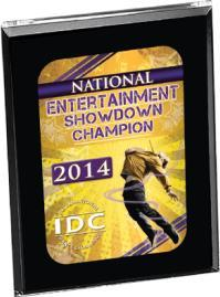 Entertainment Showdown Champion Easel Back Plaque