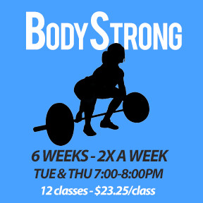 BodyStrong Tue, Feb 18 to Thu, Mar 26 (6 weeks - 2x a week - 12 classes_