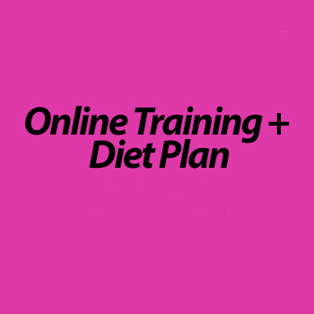 Online Training & Diet Plan (1 month)