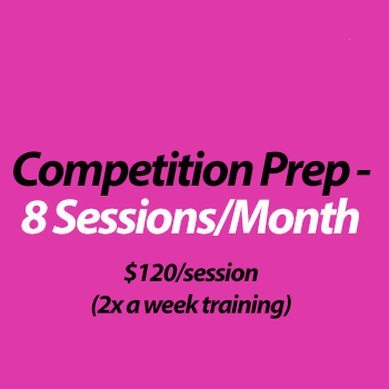 Competition Coaching (in studio) - 8 Sessions/month