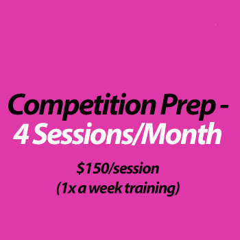 Competition Coaching (in studio) - 4 Sessions/month