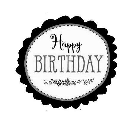 SmellieFlowers - Happy Birthday Black & White - zwart/wit/grijs
