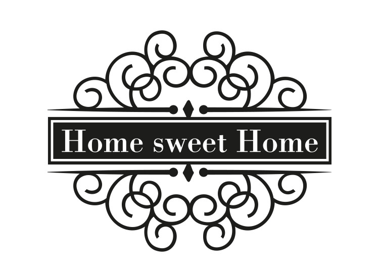 SmellieFlowers - Home sweet Home Black & White - zwart/wit/grijs