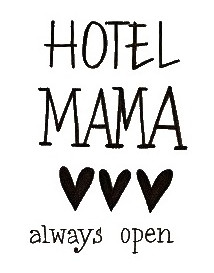 SmellieFlowers - Hotel Mama Black & White - zwart/wit/grijs