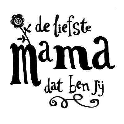 SmellieFlowers - Liefste Mama Black & White - zwart/wit/grijs