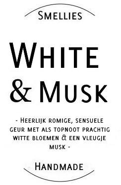 Ecogeurkaars - White & Musk Klein