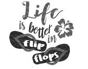 TuinKaars - Flip Flops Lavendel