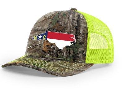 North Carolina Hat/Richardson 112 TRUCKER/REALTREEXTRA-NEON YELLOW