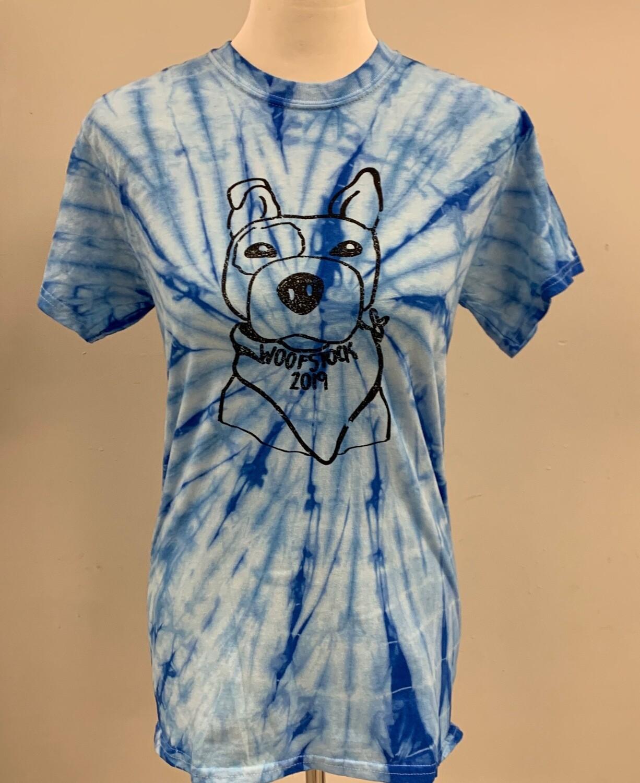 Tie Die Woofstock Shirt Size 2XL