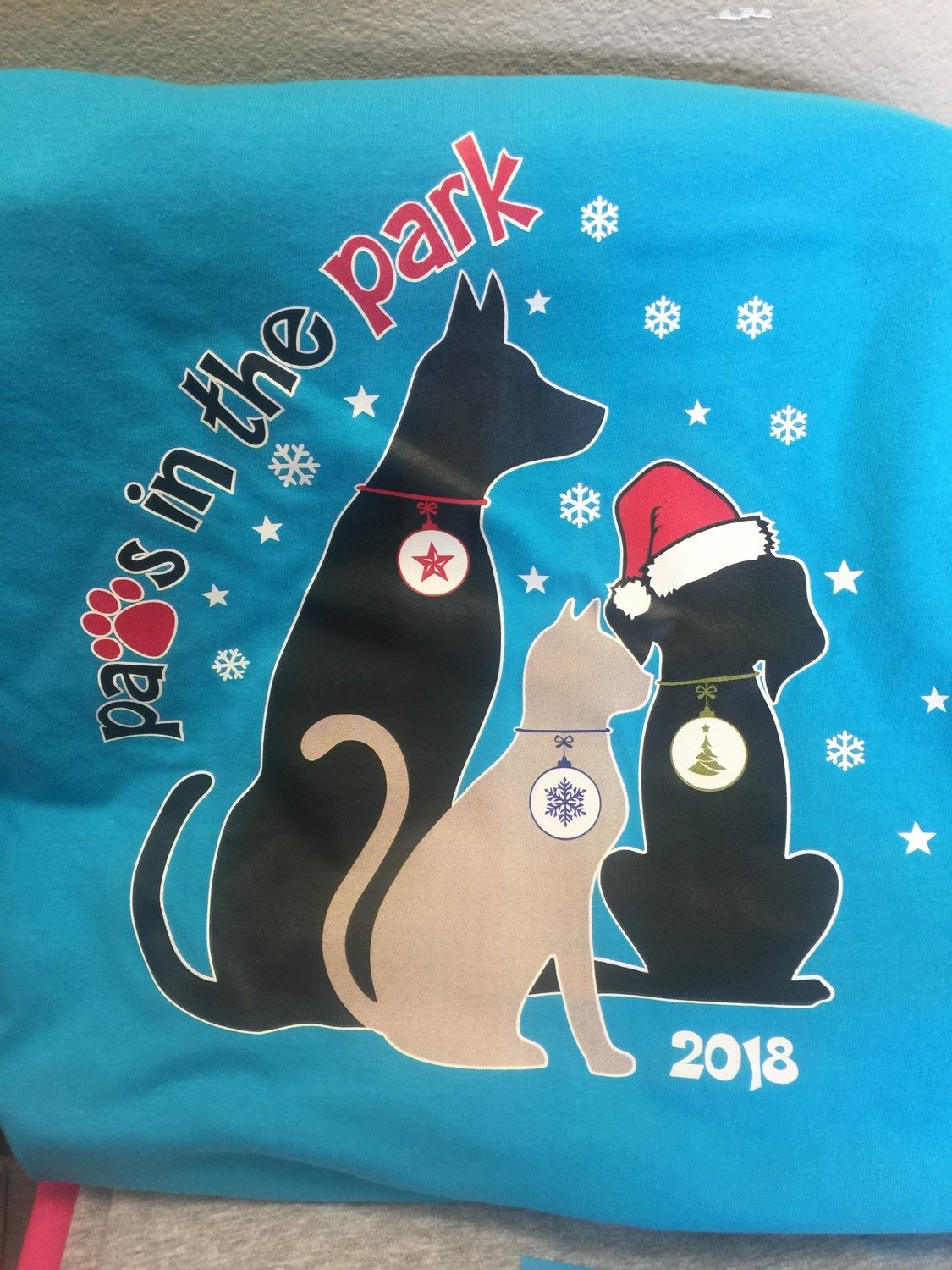 Paws in the Park 2018 shirts