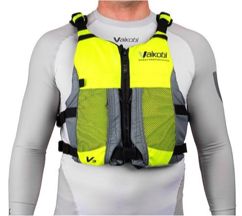 NEW- V3 OCEAN RACING PFD- FLURO YELLOW-GREY 00180