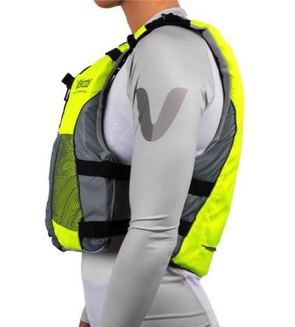 NEW- V3 OCEAN RACING PFD- FLURO YELLOW-GREY