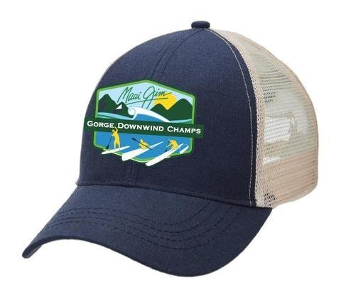 GDWC- BEER TENT TRUCKERS CAP-NAVY/ NATURAL 00174