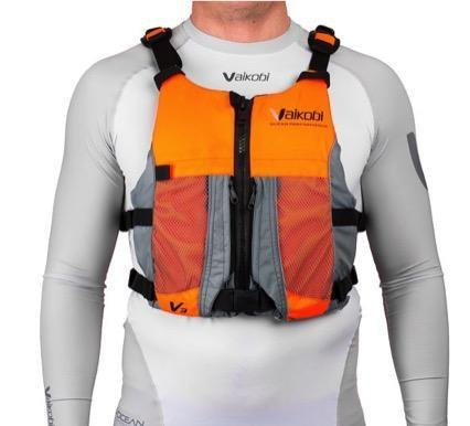 NEW- V3 OCEAN RACING PFD- FLURO ORANGE- GREY 00074