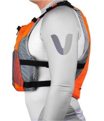 NEW- V3 OCEAN RACING PFD- FLURO ORANGE- GREY