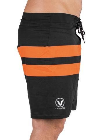 NEW-VAIKOBI PADDLE BOARD SHORTS- BLACK/ ORANGE