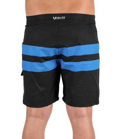 NEW-VAIKOBI PADDLE BOARD SHORTS- BLACK/ CYAN
