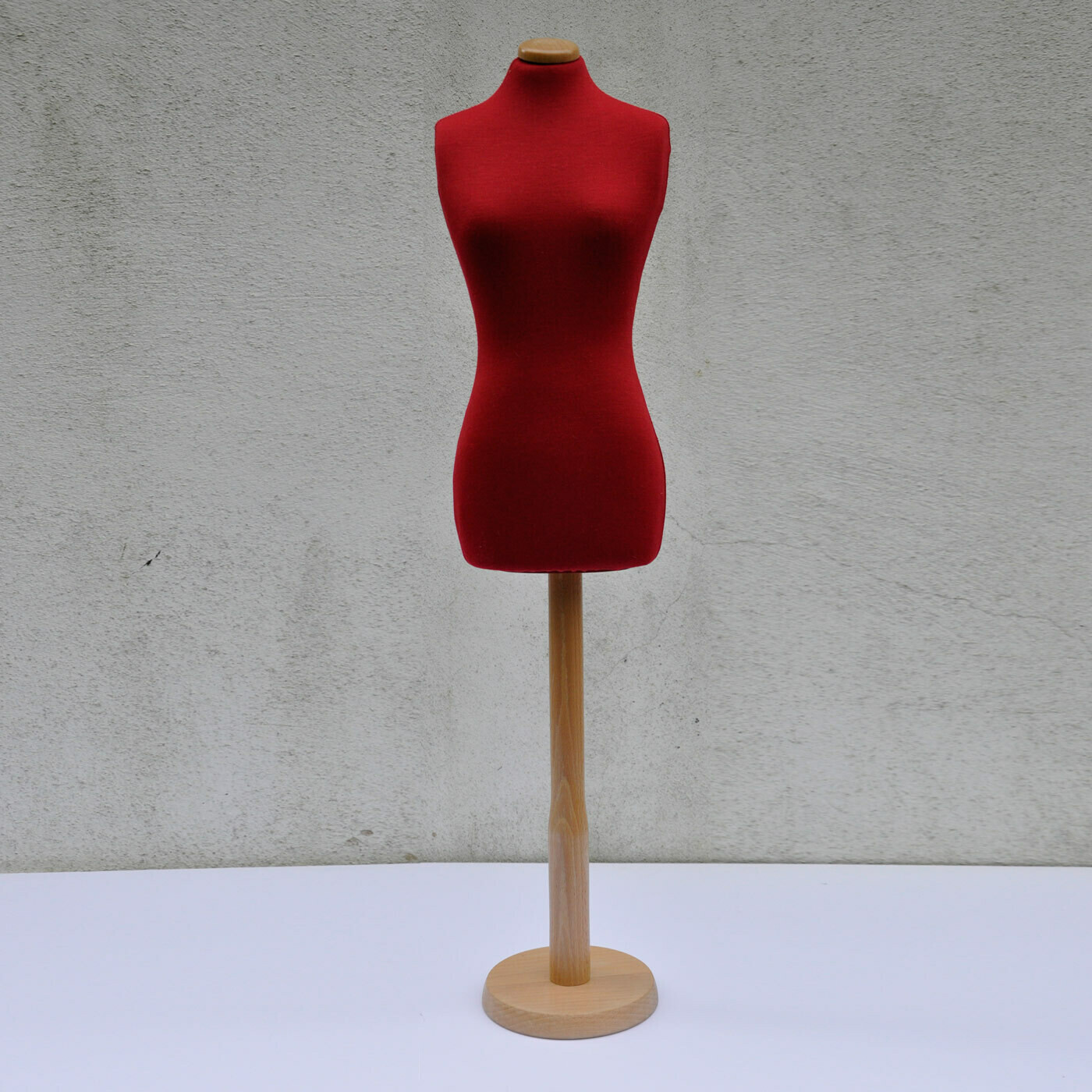 Red half scale mannequin