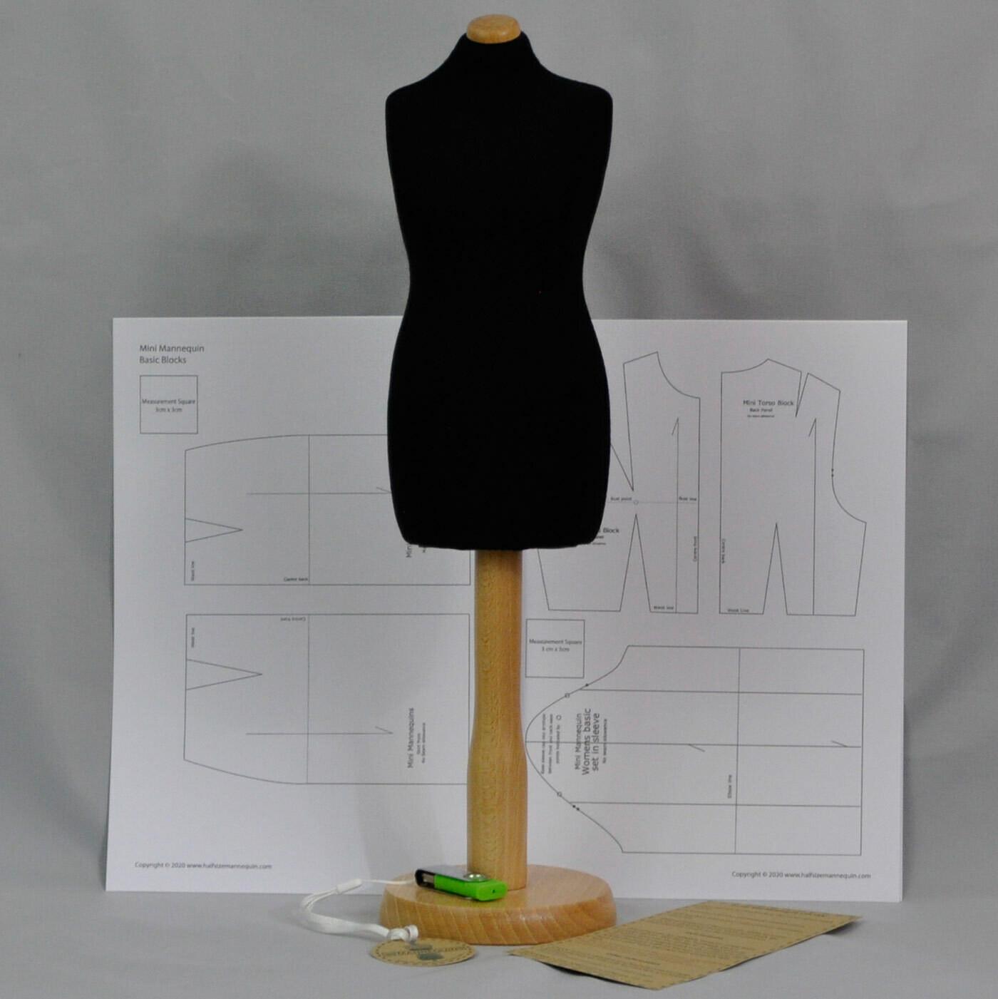 Black Mini Mannequin