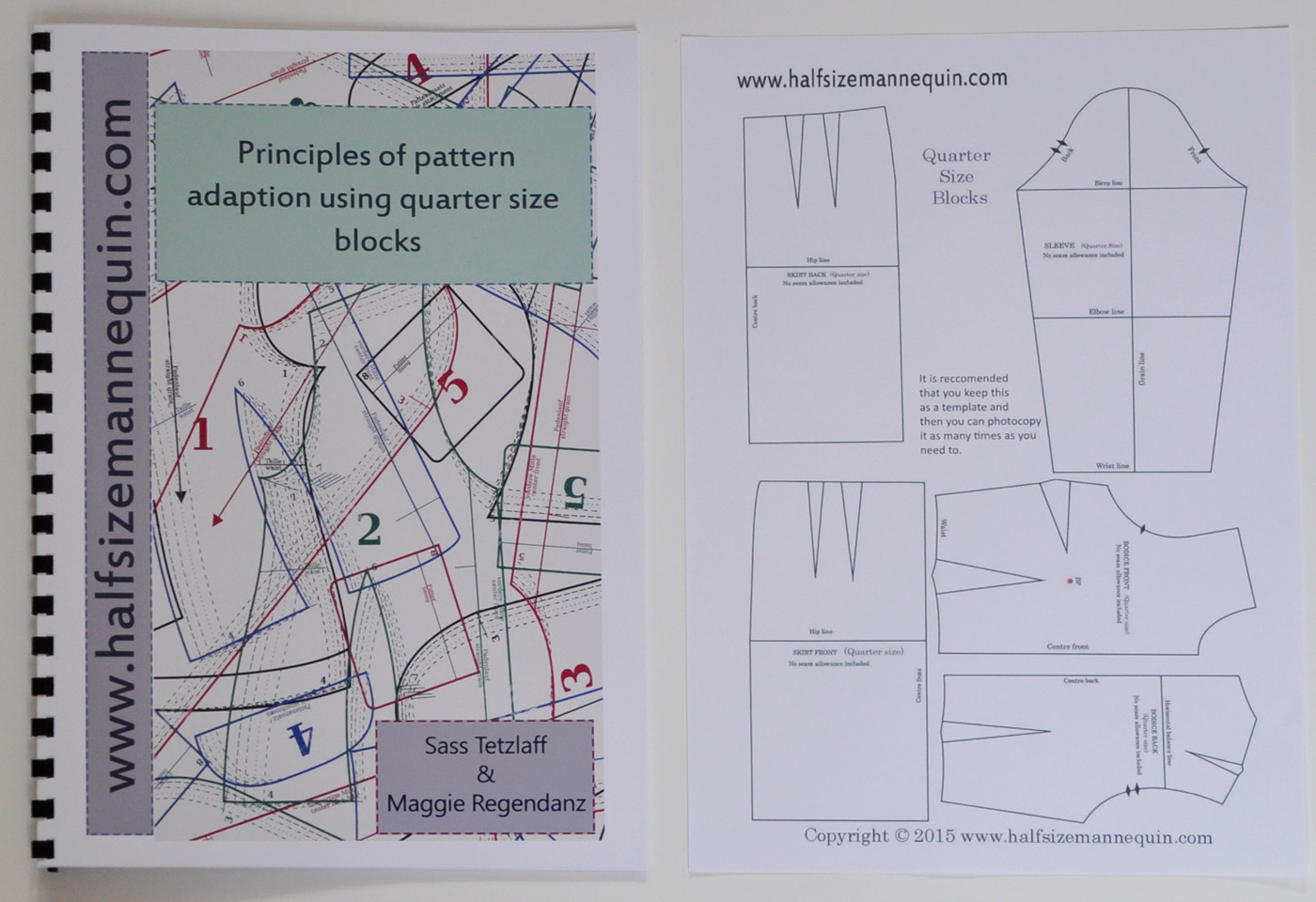 Principles of pattern adaptation using quarter size blocks booklet  (Including quarter size block templates)