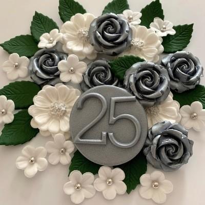 Silver 25 Wedding Bouquet