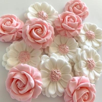 Pink Blush Cupcake Flowers