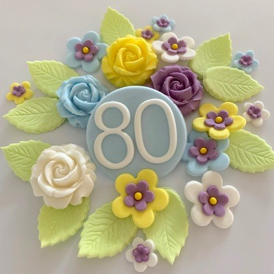 Sweet Blue Birthday Flowers