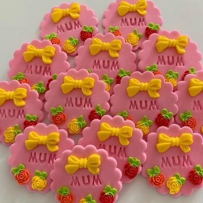 Pink Mum Cupcake Toppers