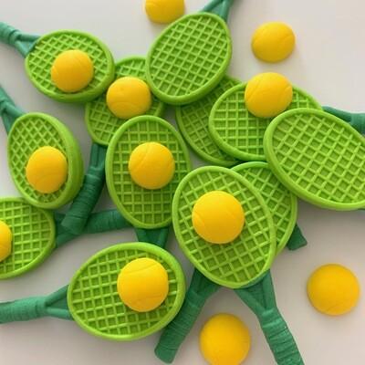 Green Tennis Rackets & Balls