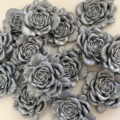 Large Silver Rose
